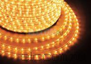 Дюралайт светодиодный, постоянное свечение(2W), желтый, 220В, диаметр 13 мм, бухта 100м, NEON-NIGHT