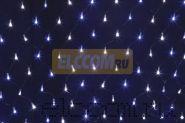 Гирлянда - сеть светодиодная 2 х 1,5м, свечение с динамикой, черный провод, белые/синие диоды NEON-NIGHT