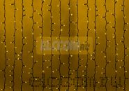 """Гирлянда """"Светодиодный Дождь"""" 2х1,5м, постоянное свечение, черный провод, 220В, диоды ЖЁЛТЫЕ, NEON-NIGHT"""
