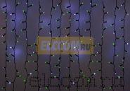 """Гирлянда """"Светодиодный Дождь"""" 2х1,5м, эффект мерцания, черный провод, 220В, диоды ЗЕЛЁНЫЕ, NEON-NIGHT"""
