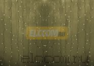 """Гирлянда """"Светодиодный Дождь"""" 2х1,5м, эффект мерцания, прозрачный провод, 220В, диоды ТЕПЛО-БЕЛЫЕ, NEON-NIGHT"""