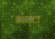 """Гирлянда """"Светодиодный Дождь"""" 2х3м, постоянное свечение, белый провод, 220В, диоды ЗЕЛЁНЫЕ, NEON-NIGHT"""
