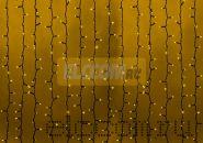 """Гирлянда """"Светодиодный Дождь"""" 2х3м, постоянное свечение, черный провод """"КАУЧУК"""", 220В, диоды ЖЁЛТЫЕ, NEON-NIGHT"""