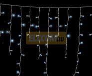 """Гирлянда """"Айсикл Белый"""" 3.8х0.6м / 10 блоков, белый провод, лампы прозрачные NEON-NIGHT"""