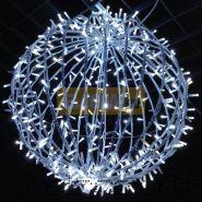 Шар светодиодный на столб, диаметр 120 см, 600 светодиодов, цвет белый, нить 60м NEON-NIGHT
