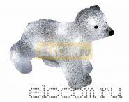 """Акриловая светодиодная фигура """"Медвежонок"""" 24х11х18 см, 4,5 В, 3 батарейки AA (не входят в комплект), 16 светодиодов, NEON-NIGHT"""