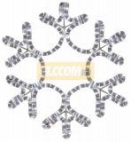 Снежинки и звезды 2D