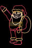 """Фигура """"Санта Клаус с мешком подарков"""", размер 100*100 см NEON-NIGHT"""