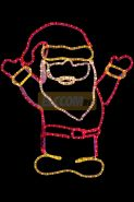 "Фигура ""Дед Мороз Привет!"", размер 83*69 см NEON-NIGHT"