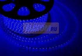 LED лента Neon-Night, герметичная в силиконовой оболочке, 220V, 13*8 мм, IP65, SMD 5050, 60 диодов/метр, цвет светодиодов синий, бухта 50 метров