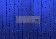 """Гирлянда """"Светодиодный Дождь"""" 2х1,5м, постоянное свечение, темно-зеленый провод, 220В, диоды СИНИЕ, NEON-NIGHT"""