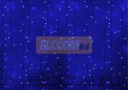 """Гирлянда """"Светодиодный Дождь"""" 2х3м, постоянное свечение, белый провод, 220В, диоды СИНИЕ, NEON-NIGHT"""