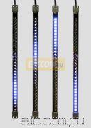 Сосулька светодиодная 50 см, 9,5V, двухсторонняя, 32х2 светодиодов, пластиковый корпус черного цвета, цвет светодиодов синий