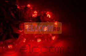 """Готовый набор: Гирлянда """"Belt Light"""", 25 ламп, 10 м, в каждой лампе 6 светодиодов, цвет красный, цвет провода белый"""