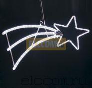 """Фигура светодиодная """"Падающая Звезда"""" цвет белый, 40*80 см NEON-NIGHT"""
