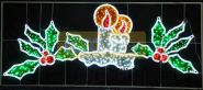 """Фигура световая """"Две свечи"""" размер 3.3х1.4м NEON-NIGHT"""