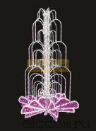LED фонтан, высота 4.0, диаметр 2.5 метра (с контроллером) Розовый