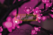 """Светодиодное Дерево """"Сакура"""", высота 2,4м, диаметр кроны 2,0м, фиолетовые диоды, IP 64, понижающий трансформатор в комплекте, NEON-NIGHT"""